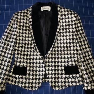 ELECTRE French Vintage 80's Wool Cropped Jacket